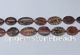 CNG7113 18*25mm - 20*33mm freeform red snowflake obsidian beads