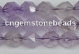 CNG7216 15.5 inches 8mm faceted nuggets amethyst beads wholesale