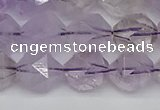 CNG7218 15.5 inches 12mm faceted nuggets amethyst beads wholesale