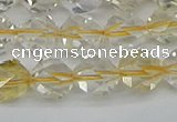 CNG7231 15.5 inches 8mm faceted nuggets citrine gemstone beads