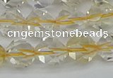 CNG7232 15.5 inches 10mm faceted nuggets citrine gemstone beads
