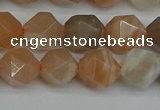 CNG7292 15.5 inches 10mm faceted nuggets moonstone beads