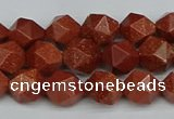 CNG7401 15.5 inches 8mm faceted nuggets goldstone beads