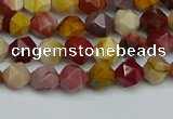 CNG7425 15.5 inches 6mm faceted nuggets mookaite beads