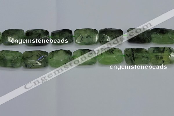 CNG7485 15.5 inches 18*25mm - 20*30mm faceted freeform prehnite beads