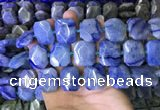 CNG7567 18*25mm - 20*28mm faceted freeform blue aventurine beads