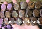 CNG7582 15.5 inches 18*25mm - 20*28mm faceted freeform bronzite beads