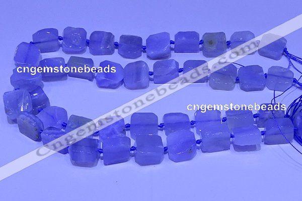 CNG7604 15.5 inches 14*15mm - 15*16mm freeform blue chalcedony beads