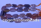 CNG7624 20*30mm - 22*32mm faceted freeform sunstone beads