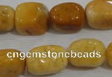 CNG765 15.5 inches 13*18mm nuggets yellow jade beads wholesale