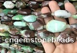 CNG7817 13*18mm - 18*25mm faceted freeform Australia chrysoprase beads