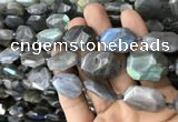 CNG7820 15.5 inches 13*18mm - 18*25mm faceted freeform labradorite beads