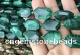 CNG7824 15.5 inches 13*18mm - 18*25mm faceted freeform malachite beads