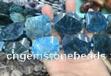 CNG7835 15.5 inches 25*32mm - 30*40mm faceted freeform apatite beads