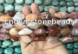 CNG7842 15*20mm - 18*25mm faceted nuggets red agate beads