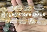 CNG7860 13*18mm - 18*25mm faceted freeform citrine beads