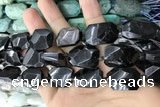 CNG7868 13*18mm - 18*25mm faceted freeform hypersthene beads