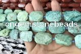 CNG7893 13*18mm - 18*25mm faceted freeform chrysotine beads