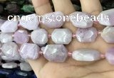 CNG7895 15.5 inches 13*18mm - 18*25mm faceted freeform kunzite beads