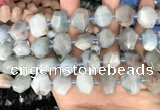 CNG7901 15.5 inches 12*16mm - 15*20mm faceted nuggets aquamarine beads
