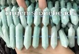 CNG7926 15.5 inches 10*25mm - 12*45mm faceted nuggets amazonite beads