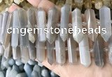 CNG7934 15.5 inches 10*22mm - 12*45mm faceted nuggets moonstone beads