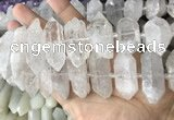 CNG7940 15*30mm - 17*30mm faceted nuggets white crystal beads