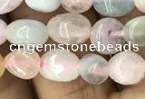 CNG8011 15.5 inches 6*8mm nuggets morganite beads wholesale