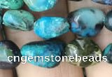 CNG8018 15.5 inches 6*8mm nuggets chrysocolla gemstone beads