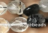 CNG8036 15.5 inches 8*10mm nuggets black rutilated quartz beads