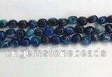 CNG8135 15.5 inches 8*12mm nuggets striped agate beads wholesale