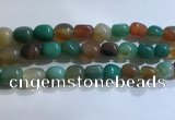 CNG8158 15.5 inches 10*14mm nuggets agate beads wholesale