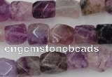 CNG817 15.5 inches 9*12mm faceted nuggets fluorite beads