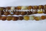 CNG8226 15.5 inches 12*16mm nuggets striped agate beads wholesale