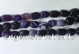 CNG8227 15.5 inches 12*16mm nuggets striped agate beads wholesale