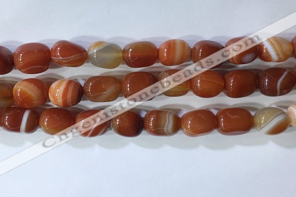 CNG8229 15.5 inches 12*16mm nuggets striped agate beads wholesale
