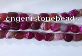 CNG8268 15.5 inches 13*18mm nuggets striped agate beads wholesale