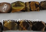 CNG831 15.5 inches 13*18mm faceted nuggets yellow tiger eye beads