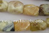 CNG832 15.5 inches 13*18mm faceted nuggets yellow opal beads