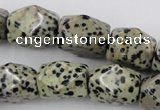 CNG841 15.5 inches 13*18mm faceted nuggets dalmatian jasper beads