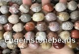 CNG8528 15.5 inches 13*15mm - 15*17mm faceted nuggets fossil coral beads
