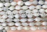 CNG8530 15.5 inches 8*9mm - 9*11mm faceted nuggets aquamarine beads
