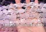 CNG8578 13*18mm - 15*20mm faceted nuggets white crystal beads