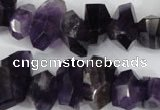 CNG859 15.5 inches 10*14mm – 12*20mm faceted nuggets amethyst beads