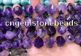 CNG8593 12*16mm - 13*18mm faceted nuggets amethyst beads