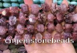 CNG8594 12*16mm - 13*18mm faceted nuggets strawberry quartz beads