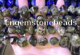 CNG8598 12*16mm - 13*18mm faceted nuggets green garnet beads
