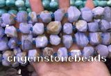 CNG8599 12*16mm - 13*18mm faceted nuggets blue lace agate beads