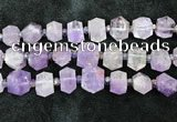 CNG8671 12*20mm - 20*33mm faceted nuggets lavender amethyst beads