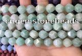 CNG8713 15.5 inches 12mm faceted nuggets amazonite gemstone beads